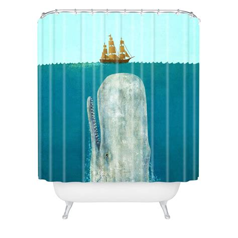 shower curtain whale nautical blue whale shower curtain