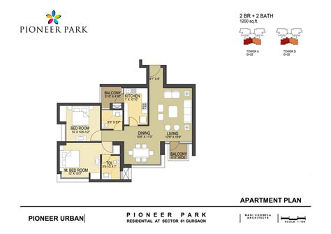 2 bhk apartment floor plans pioneer park floor plan pioneer park sector 61 gurgaon