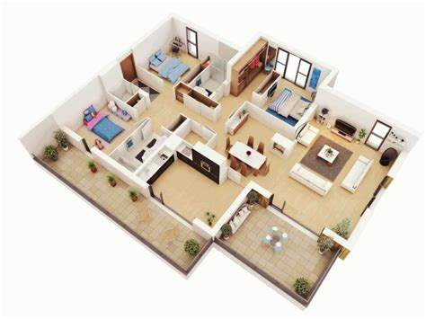 three bedroom apartment planning idea home design ideas home design simple house design with floor plan d