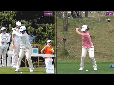 golf swing slow mo slow mo kim sei young 2009 vs 2012 dual view driver golf