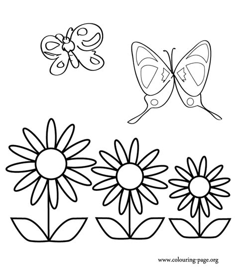 free printable pictures of flowers and butterflies az