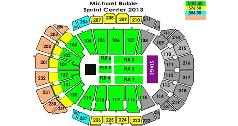 sprint center floor plan michael buble sprint center