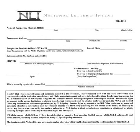 sle national letter of intent 9 free documents in pdf word