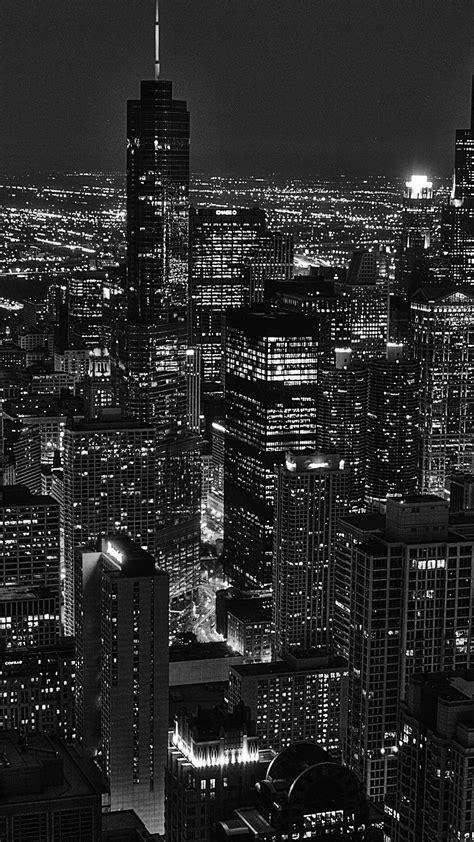 ml city view night dark bw wallpaper
