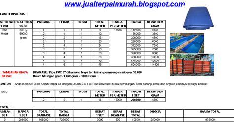 Harga Kolam Terpal Terbaru jual terpal murah daftar harga kolam terpal a15