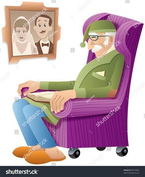Sleeping Armchair by Sleeping His Armchair Book Stock Vector 93378850