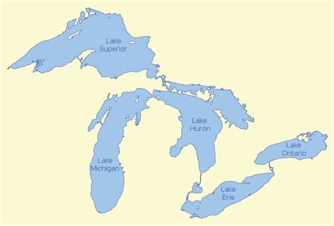 map of the five great lakes in the united states image map of the great lakes png the finger lakes wiki