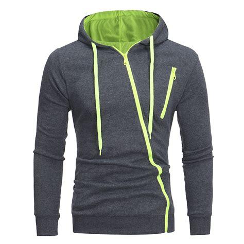 Hoodie Zipper 3second s hoodies 2017 new sleeve 3d hoodies inclined zipper hoodie sweatshirts solid