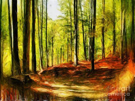 Duvet Sales Enchanted Forest Drawing Digital Art By Daliana Pacuraru