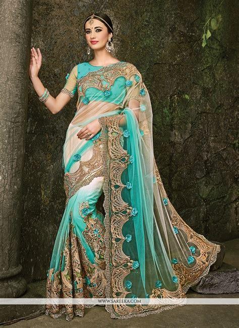 Wedding Dresses Designer Blue by Buy Net Blue Designer Bridal Sarees Usa Wedding