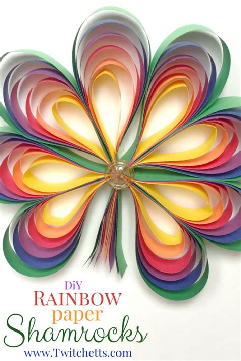 Paper And Craft Activities - rainbow paper shamrocks st s day crafts for