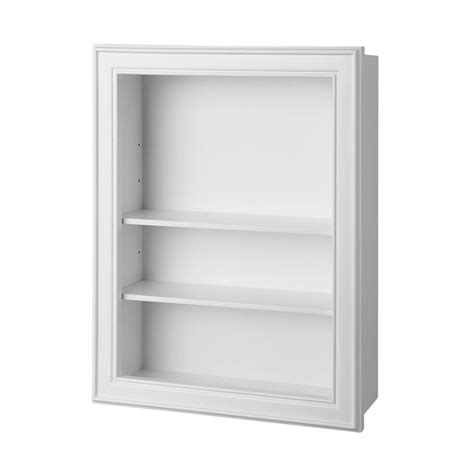 Bathroom Shelves White Home Decorators Collection Gazette 18 1 2 In W Wall Shelf In White Gaww1924 The Home Depot