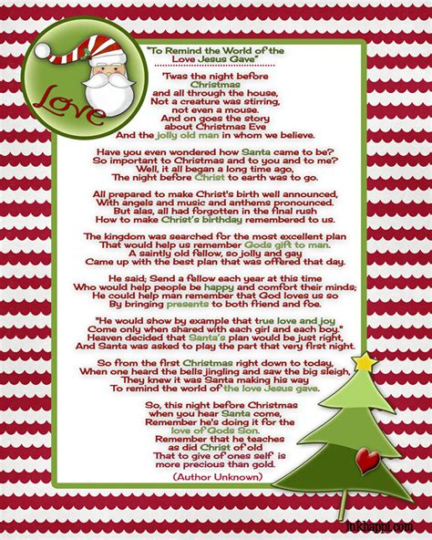 jesus poem santa and poem and a tradition inkhappi