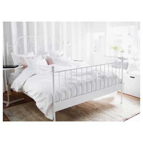 ikea double bed leirvik bed frame white lur 246 y standard double ikea