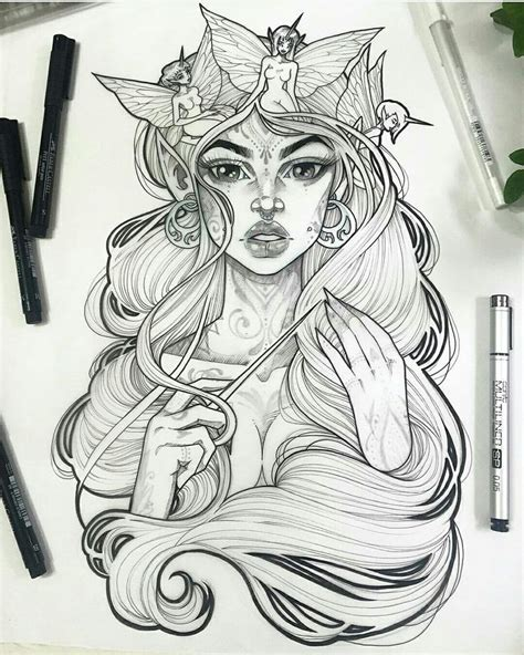girl tattoo paper gwen d arcy art pinterest bags for sale and doors
