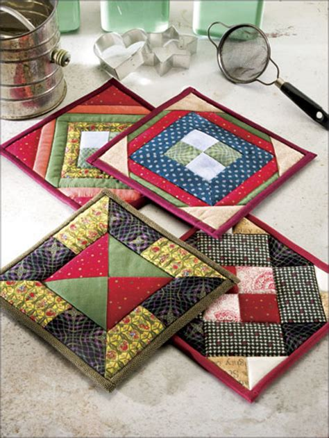 Patchwork Potholder Pattern - town square quilted pot holder patterns eq00197
