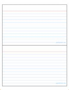 Index Card Template For Word by Index Card Template Cyberuse