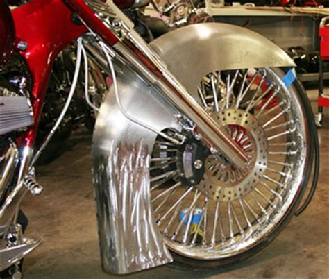 new fat katz 26 steel front fender for harley davidson fl