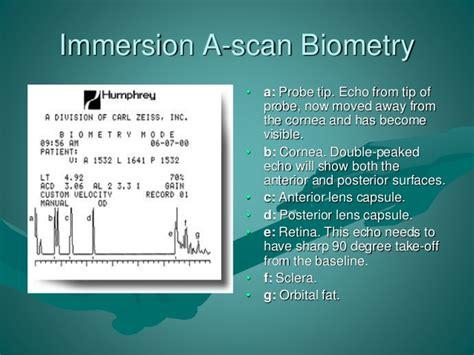 A Scan Biometry biometry instruments equipment