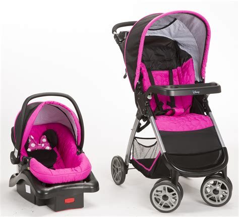 minnie mouse car seat and stroller set at walmart disney minnie mouse pop stroller and car seat travel system