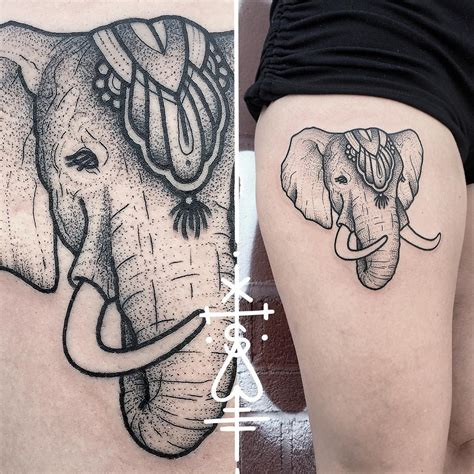 elephant thigh tattoo circus elephant tattoo on thigh animals tattoo