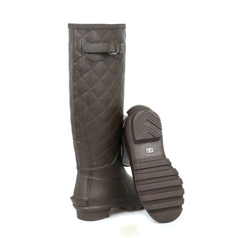 Quilted Wellington Boots by Barbour Quilted Wellies Knee High Shoes Wellington Size 3