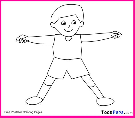 body coloring pages for toddlers free coloring pages of kid body outline