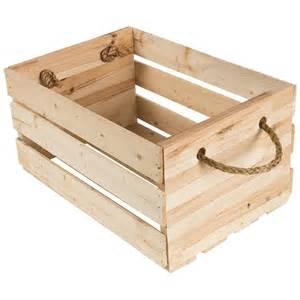 caisse en bois avec poign 233 es en corde meubles d appoint
