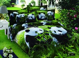 Panda Bed Set Wholesale Cute Panda Animal Bedding Set Oil Painting Bed