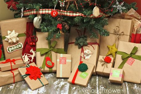 brown christmas gifts get your kraft on gift wrapping live laugh rowe