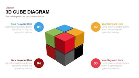 powerpoint cube template 3d cube diagram powerpoint and keynote template slidebazaar