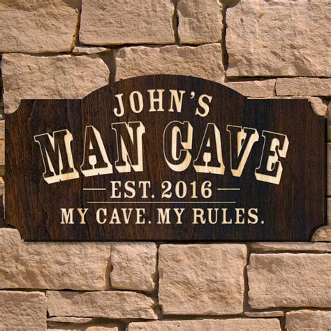 Handcrafted Wooden Signs - cave custom wooden sign signature series custom