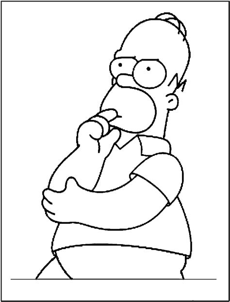 Free Printable Simpsons Coloring Pages For Kids The Simpsons Colouring Pages