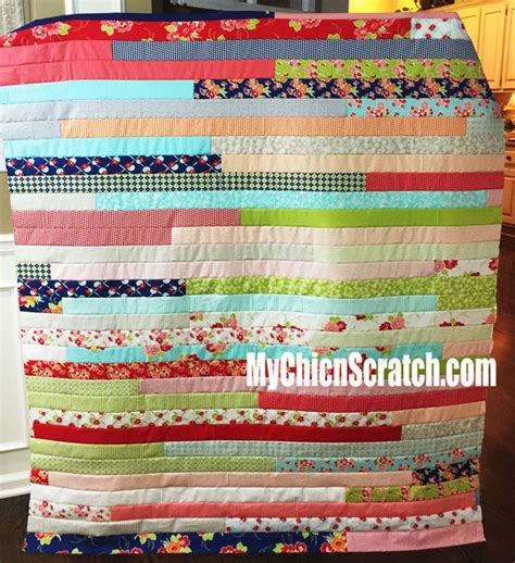 How To Make A Jelly Roll Quilt by Jelly Roll Quilt Chic N Scratch