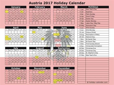 Austria Calend 2018 Austria 2017 2018 Calendar