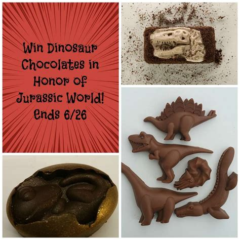 World Giveaways - jurassic world giveaway of dinosaur chocolates 2 dorks in love