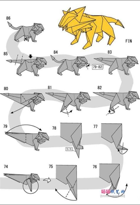 Intermediate Origami Diagrams - free coloring pages cool origami 101