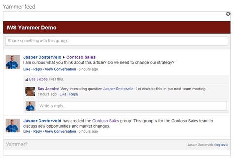 Description Of Sharepoint by Sharepoint And Yammer The Yammer App Collab365 Community