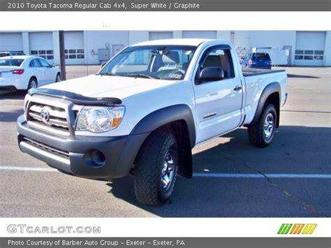 2010 Toyota Tacoma Regular Cab White 2010 Toyota Tacoma Regular Cab 4x4