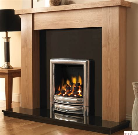 Fireplace Surroundings by Pureglow Stanford Oak Finish Fireplace Surround
