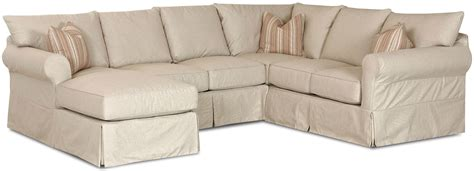 Sectional Covers Slip Cover Sectional Sofa With Left Chaise By Klaussner