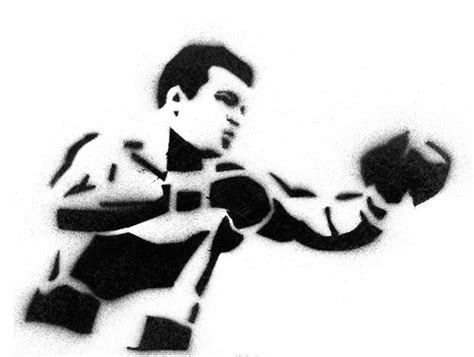mohammed ali stencil by tbenk491 stencils on behance