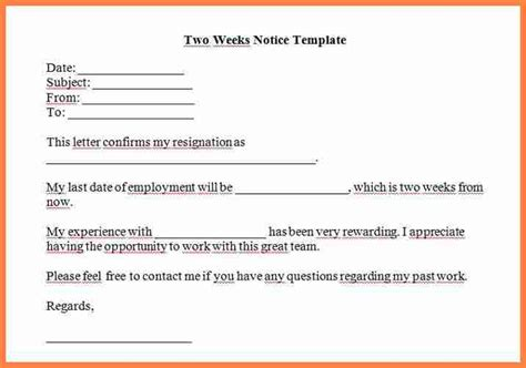 9 sle 2 weeks notice to employer notice letter