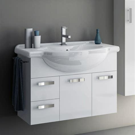 32 Inch Bathroom Vanity Cabinet Modern 32 Inch Phinex Vanity Set With Storage Cabinet Glossy White Zuri Furniture