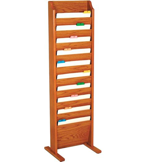 literature rack freestanding in floor magazine racks