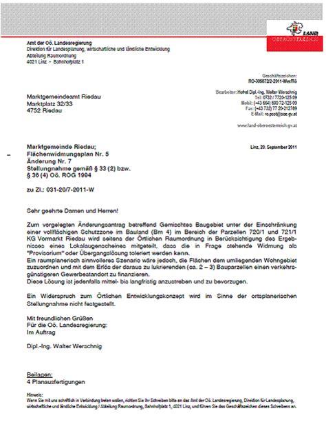 Antrag Gemeinderat Vorlage Protokoll Gemeinderatssitzung 22 September 2011 Marktgemeinde Riedau