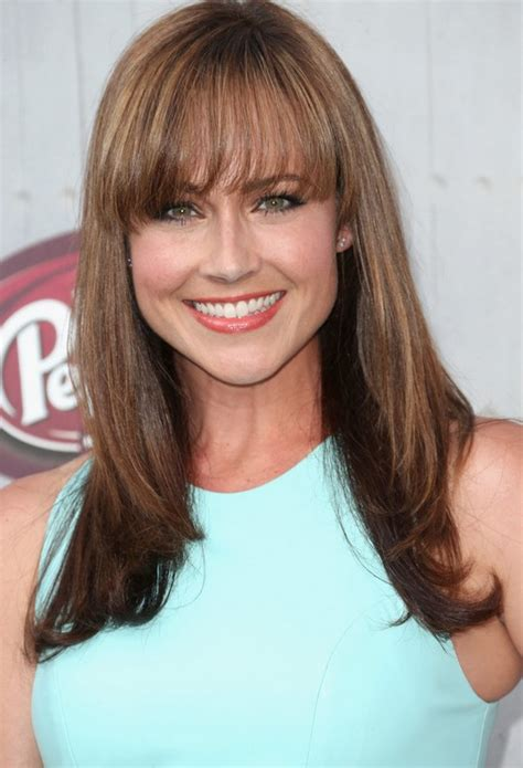 eye grazing bangs nikki deloach long brown straight haircut with eye grazing