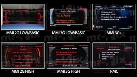 Audi Navigation Mmi by Audi Navigation Systems Mmi Rns Bns Rmc Differences Mr