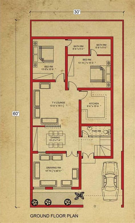 10 By 8 Floor Plan - house floor plan 8 marla house plan in bahria town lahore