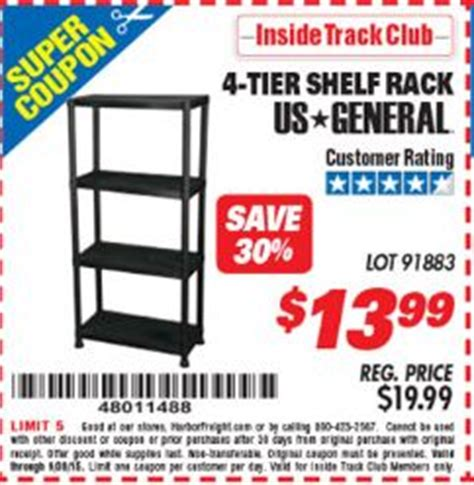 Shelf Discount Code by Harbor Freight Tools Coupon Database Free Coupons 25